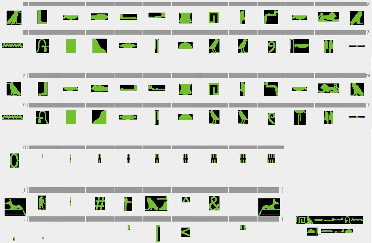 Download Free Font Egyptian Hieroglyphs Silhouette