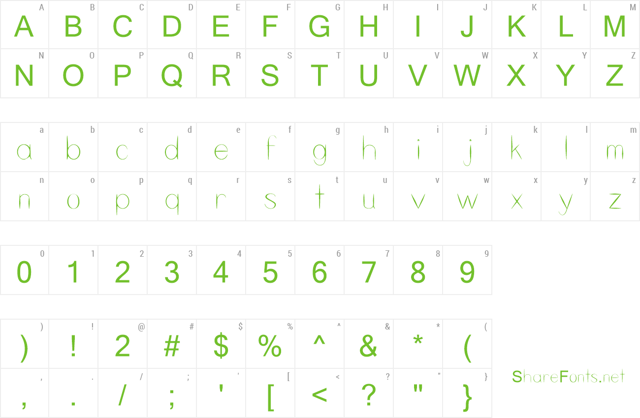 Font Skeleton Key preview