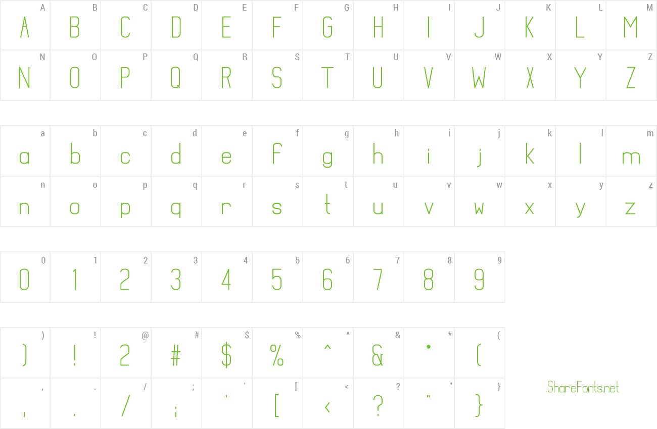 Font Mathematical preview