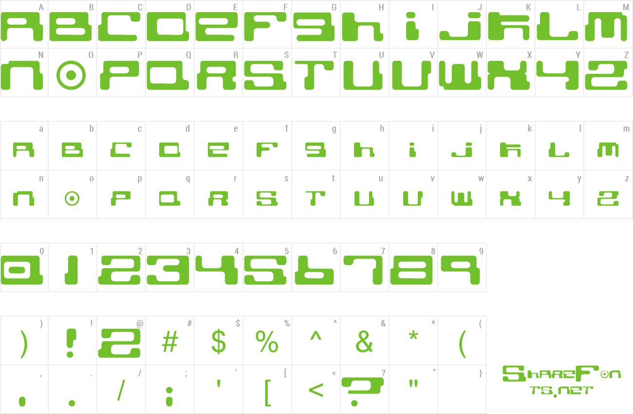 Font Cybertown Subterranean preview