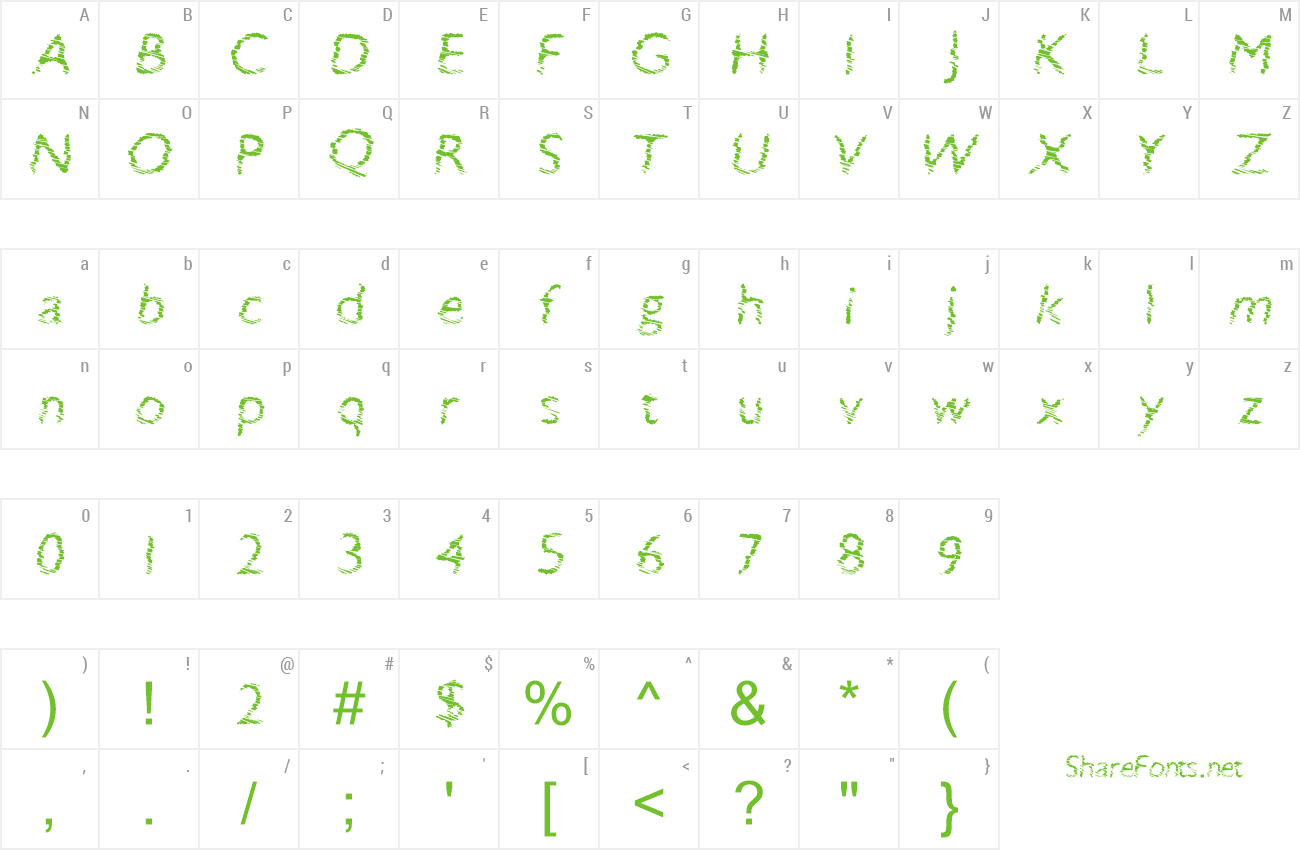 Font SwiftBreak preview