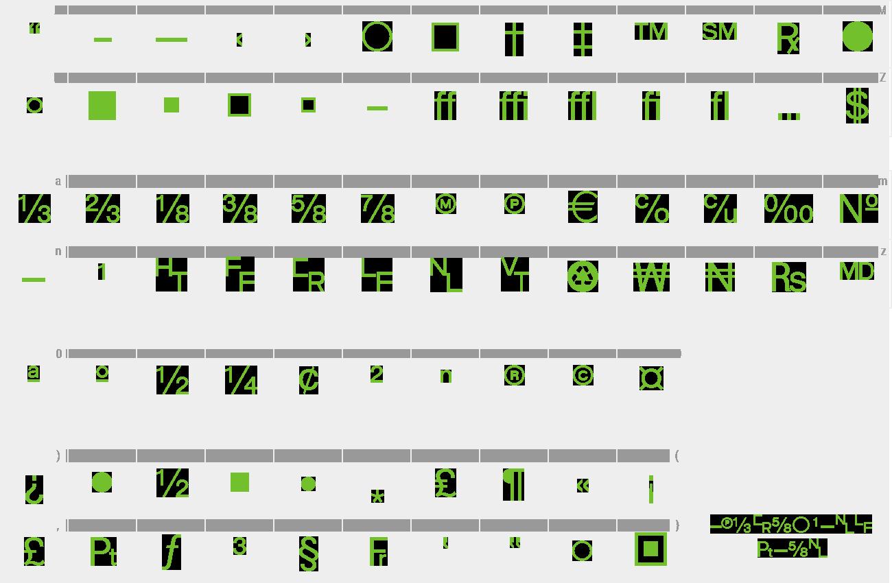 Download Free Font WP TypographicSymbols