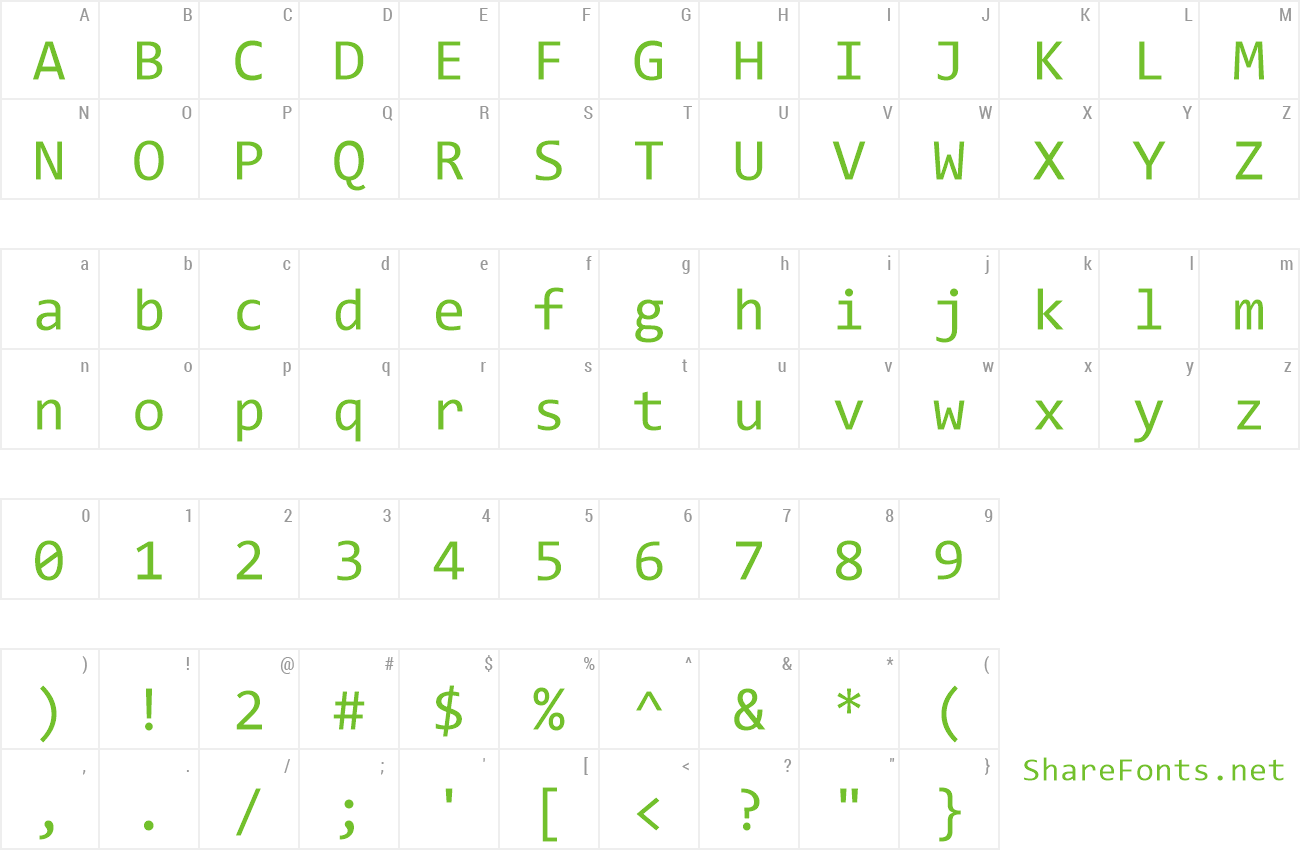 Free alternative to consolas font.