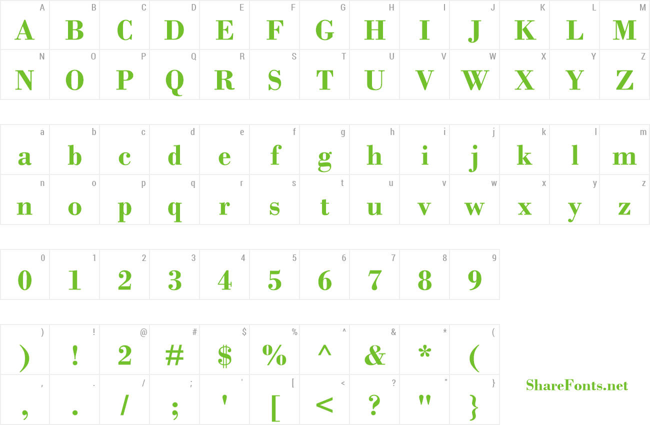 Download Free Font Bodoni MT