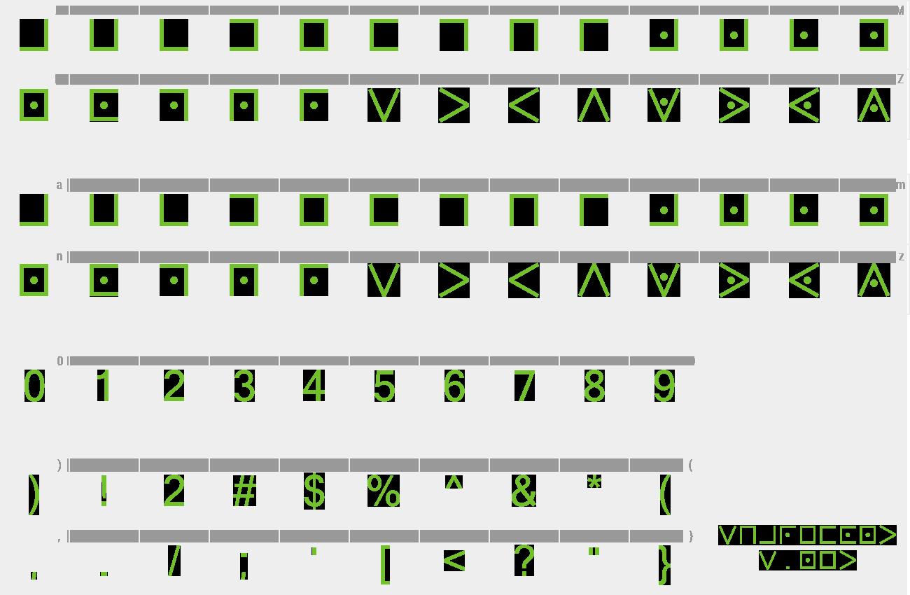 Download Free Font Pigpen Cipher