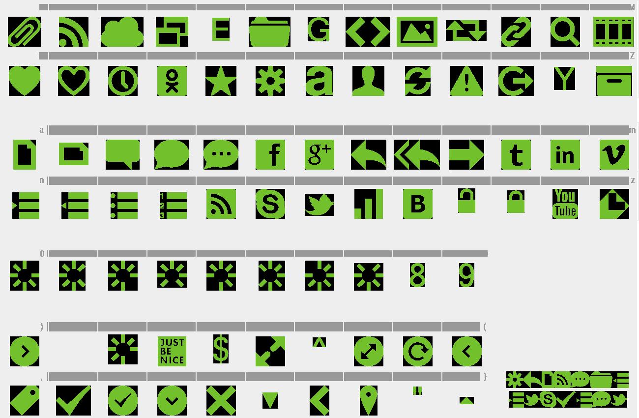 Download Free Font Web Symbols