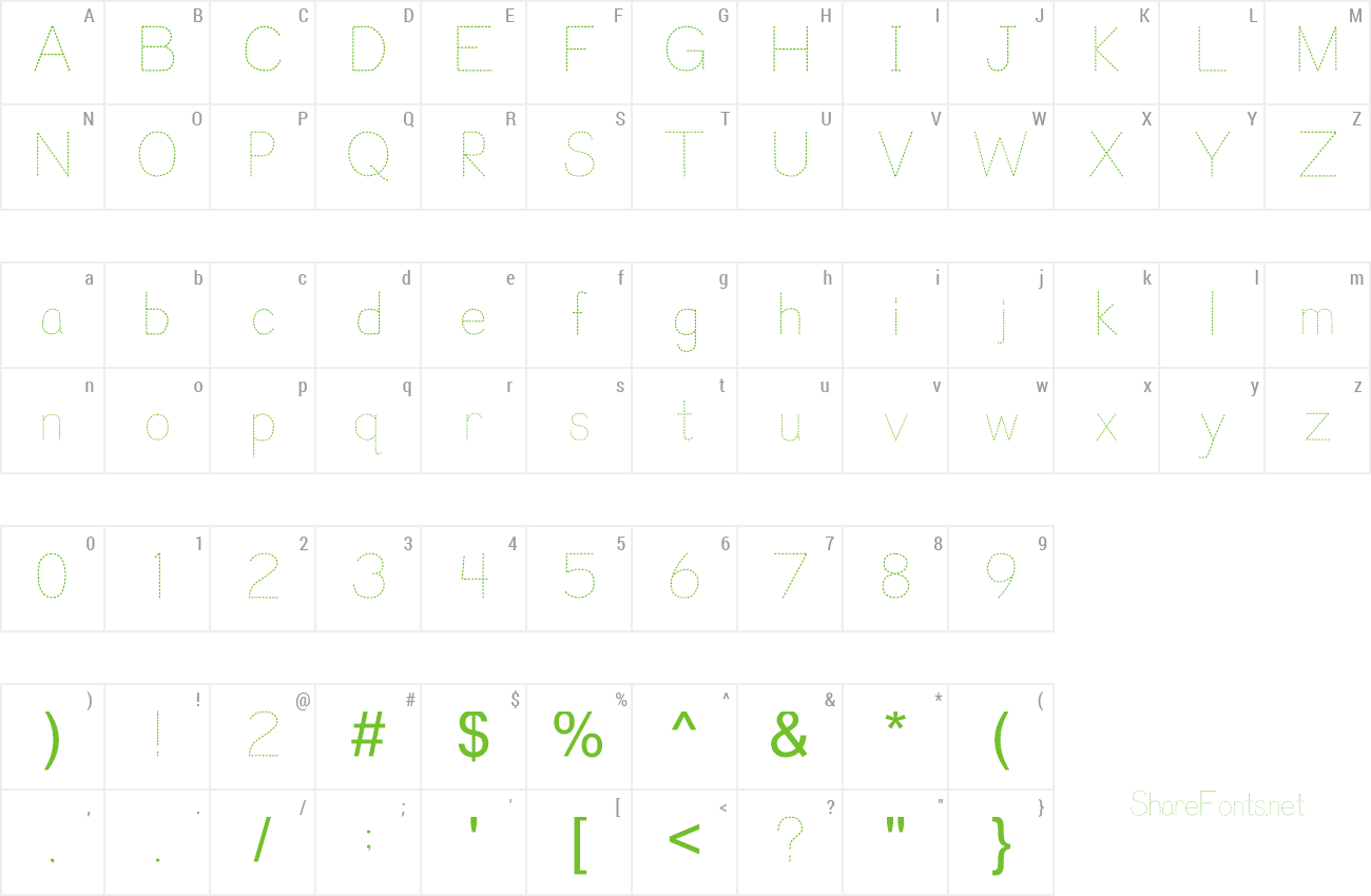 Download Free Font Trace Font for Kids