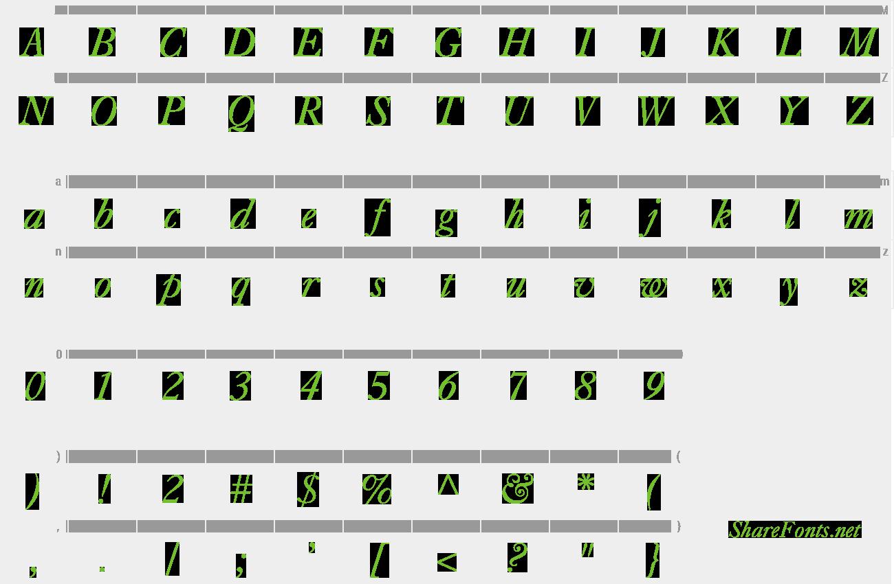 Download Free Font Caslon-Italic