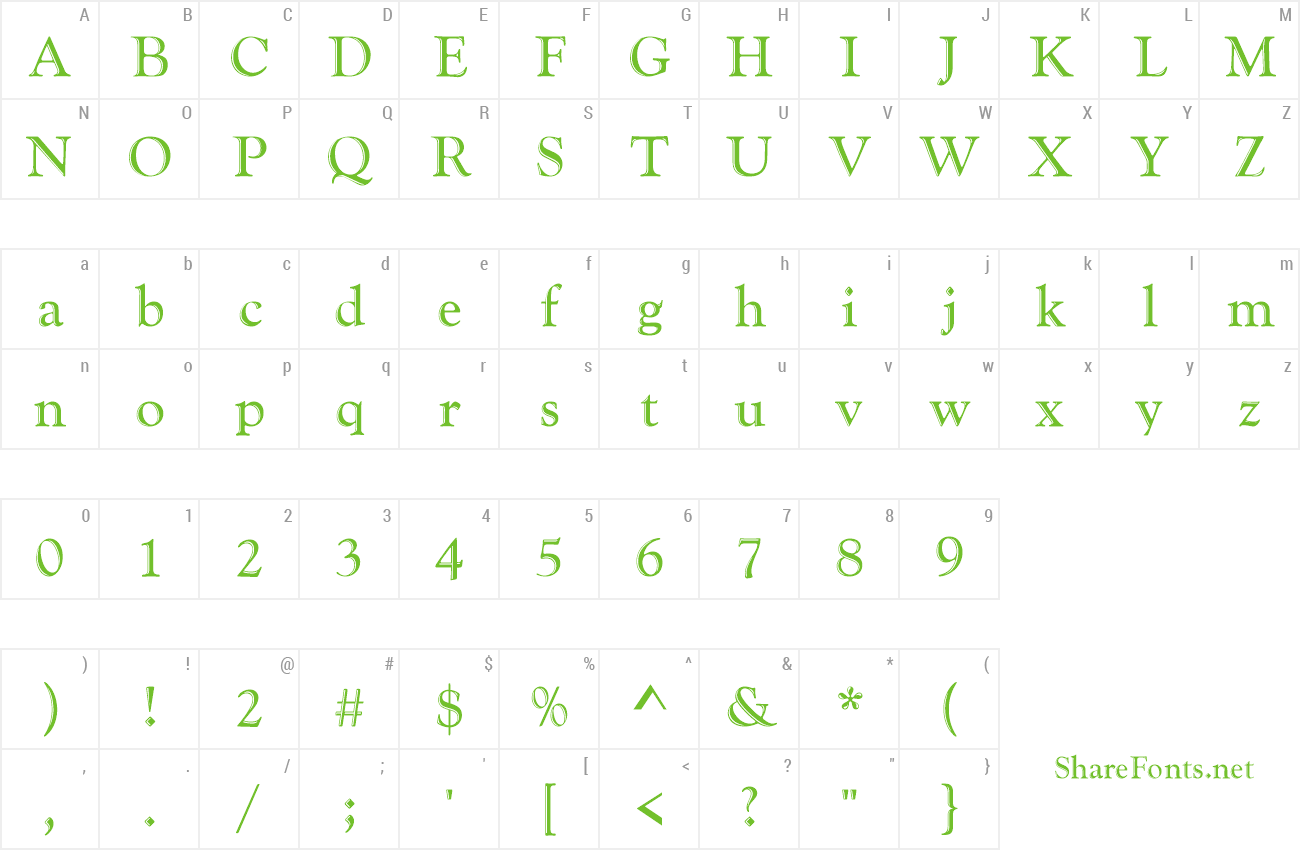 goudy handtooled font