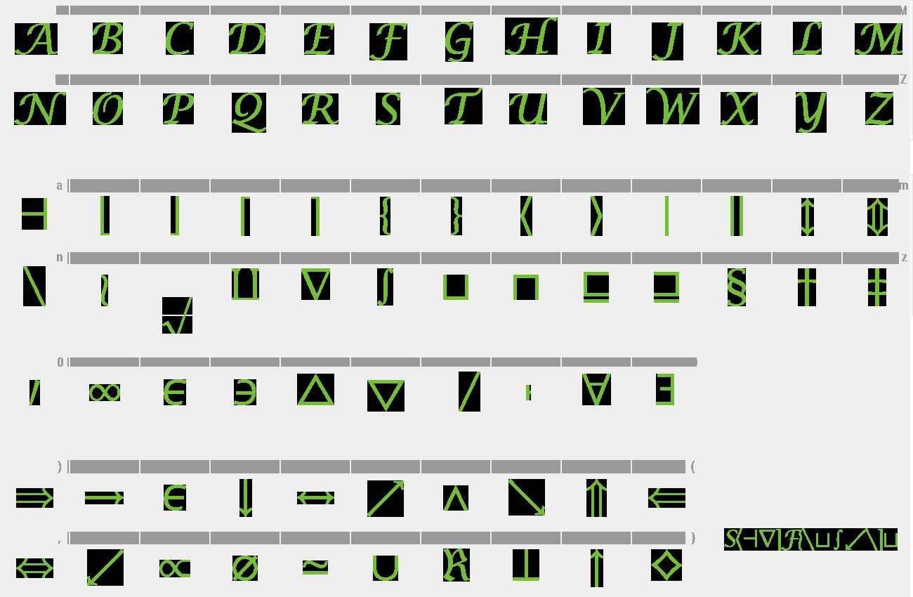 Download Free Font Insight Math Symbol SSi