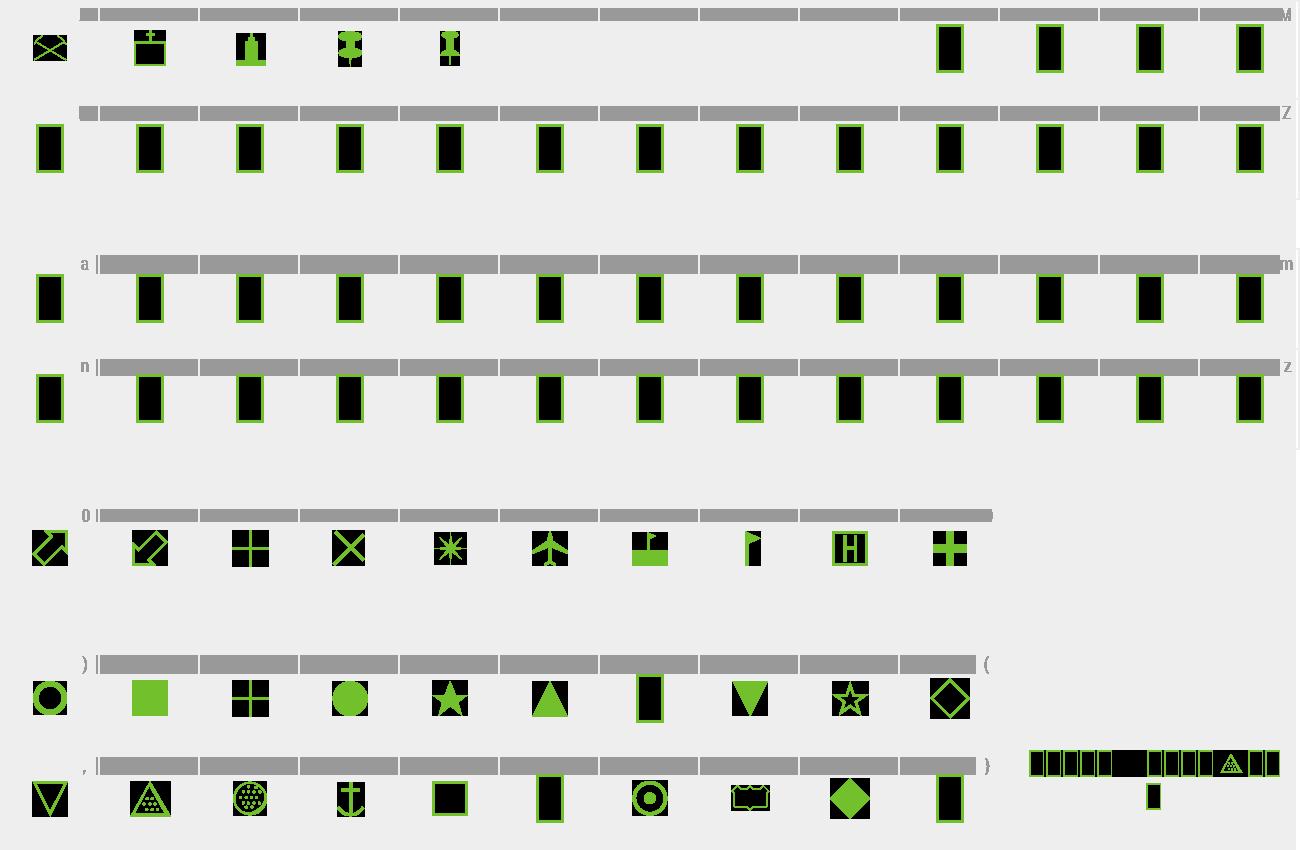 Download Free Font Map Symbols
