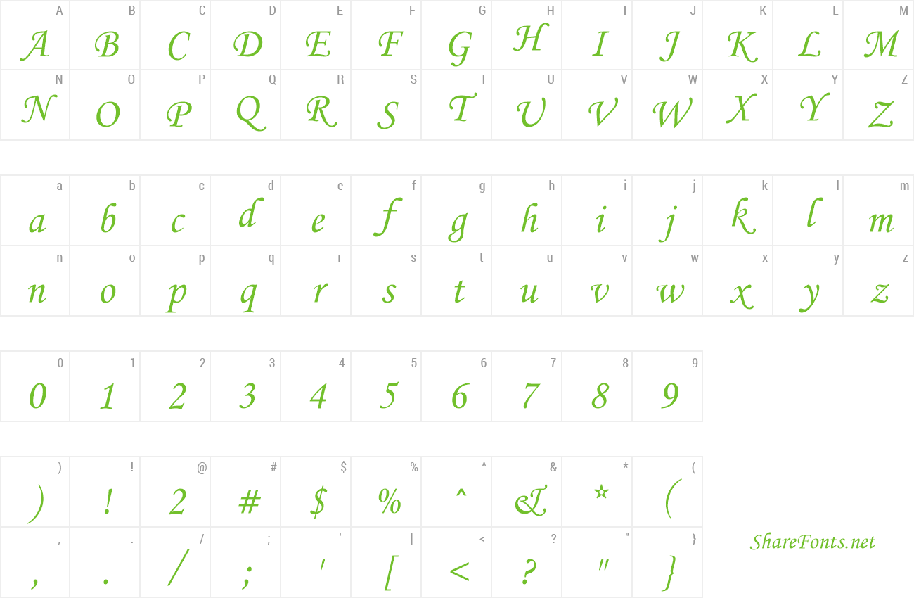 Download Free Font Monotype Corsiva
