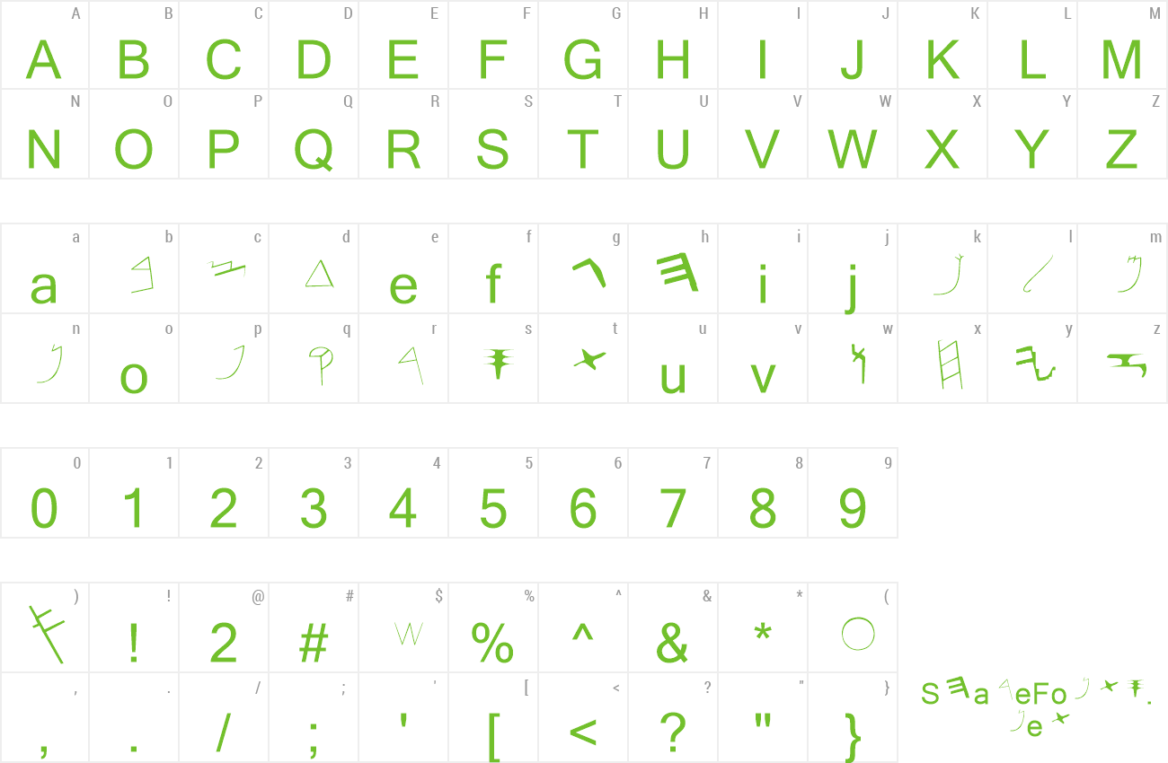 Fonts Included In LaserPaleo-Hebrew
