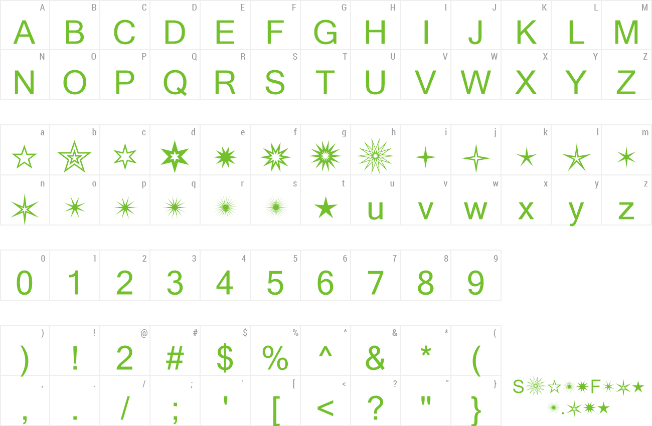 Font WE_Starcrazy1 preview