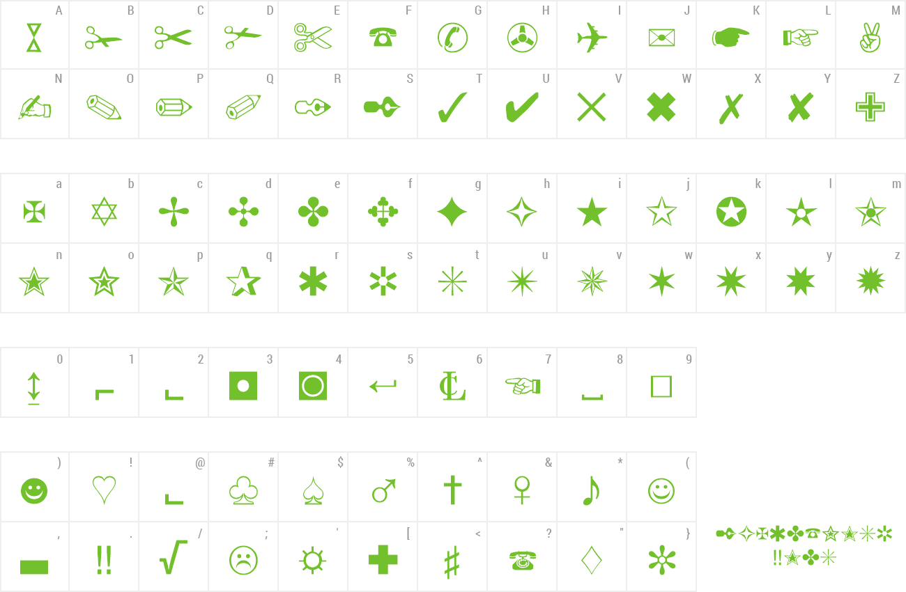 wp iconic symbols a font free download