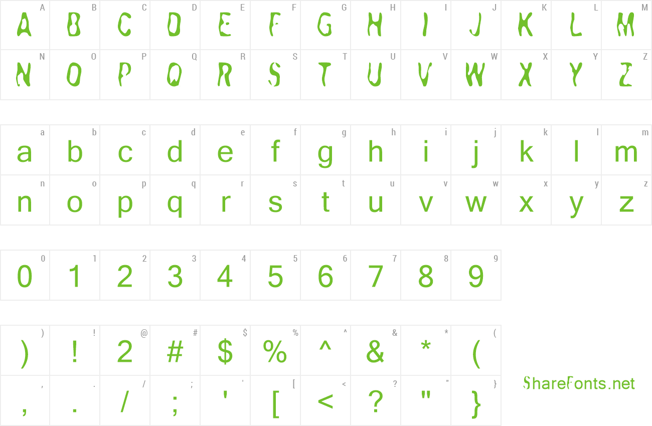 Font Yakabuza preview