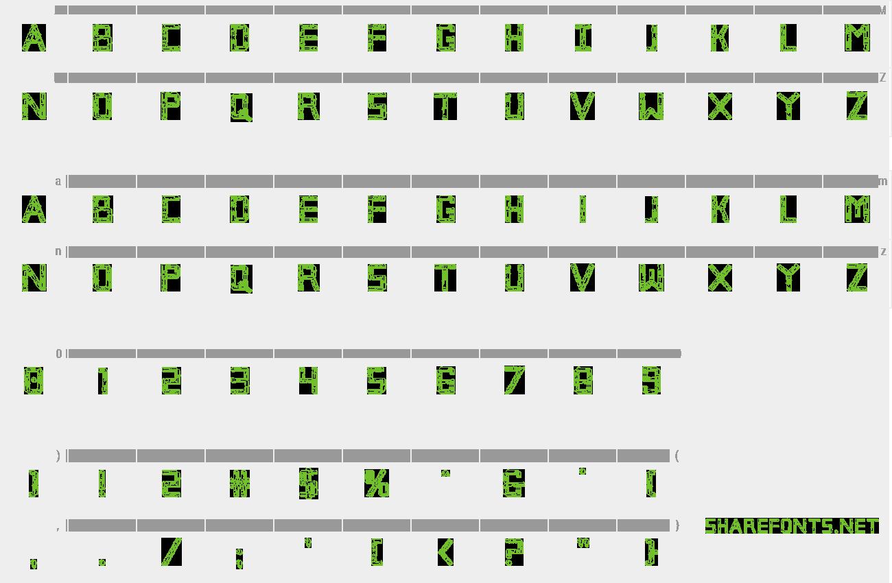 download free font broken cyborg 3d