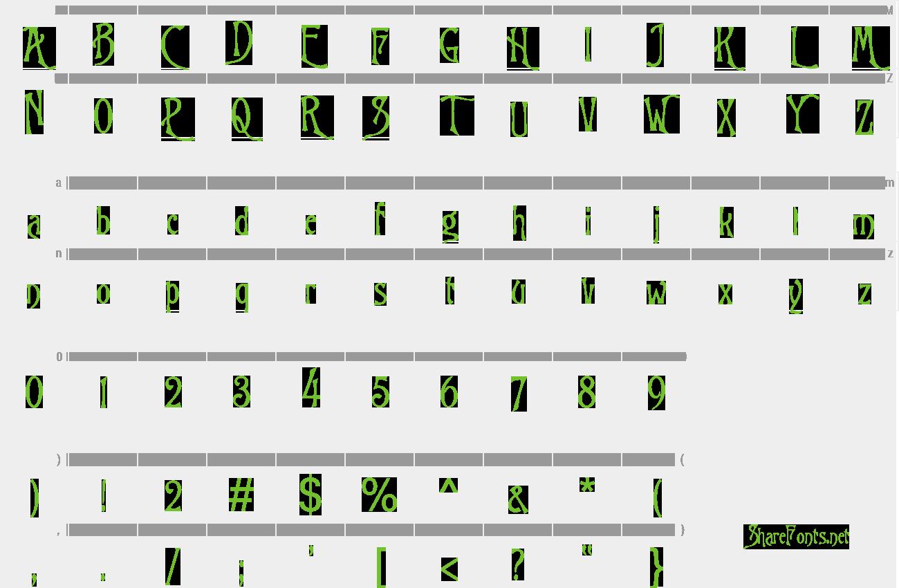 Download Free Font Burton's Nightmare
