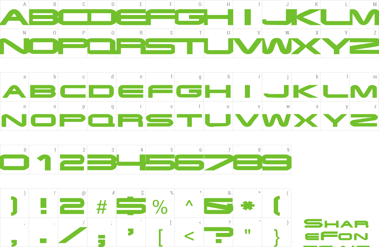 Font EndzoneExtended preview