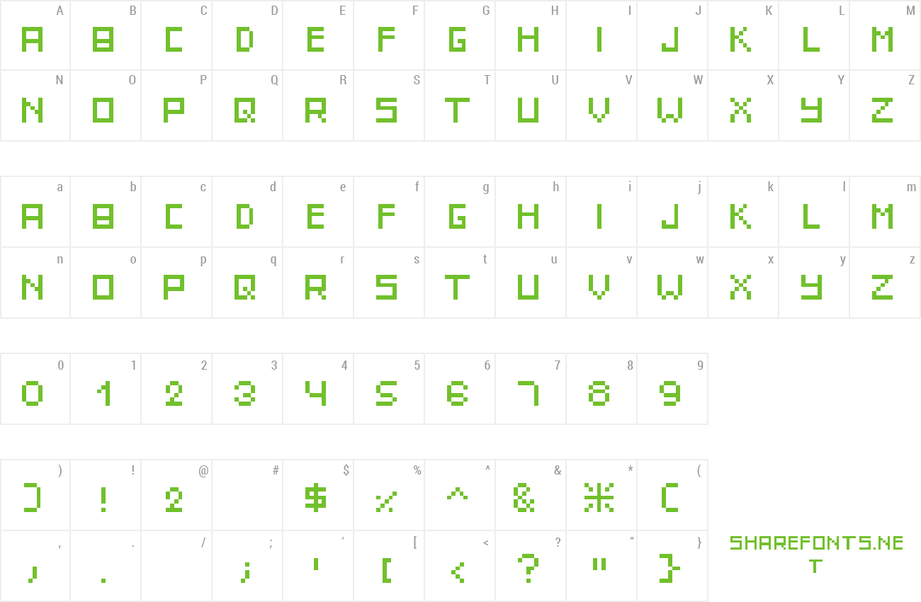 Font IttyBittyPixel preview