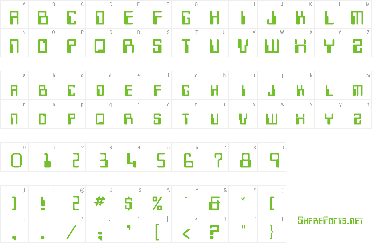 Font Keypunch preview