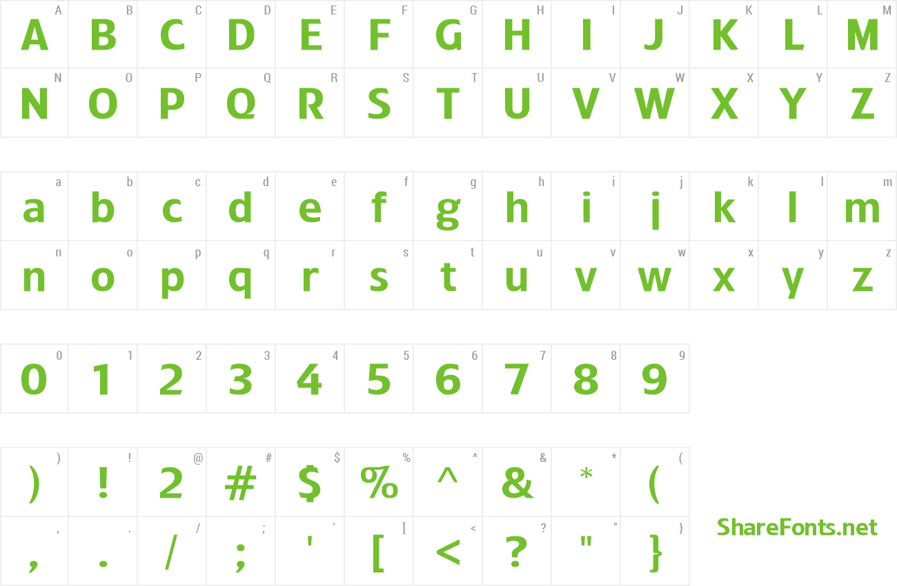 Font Treacyfaces preview