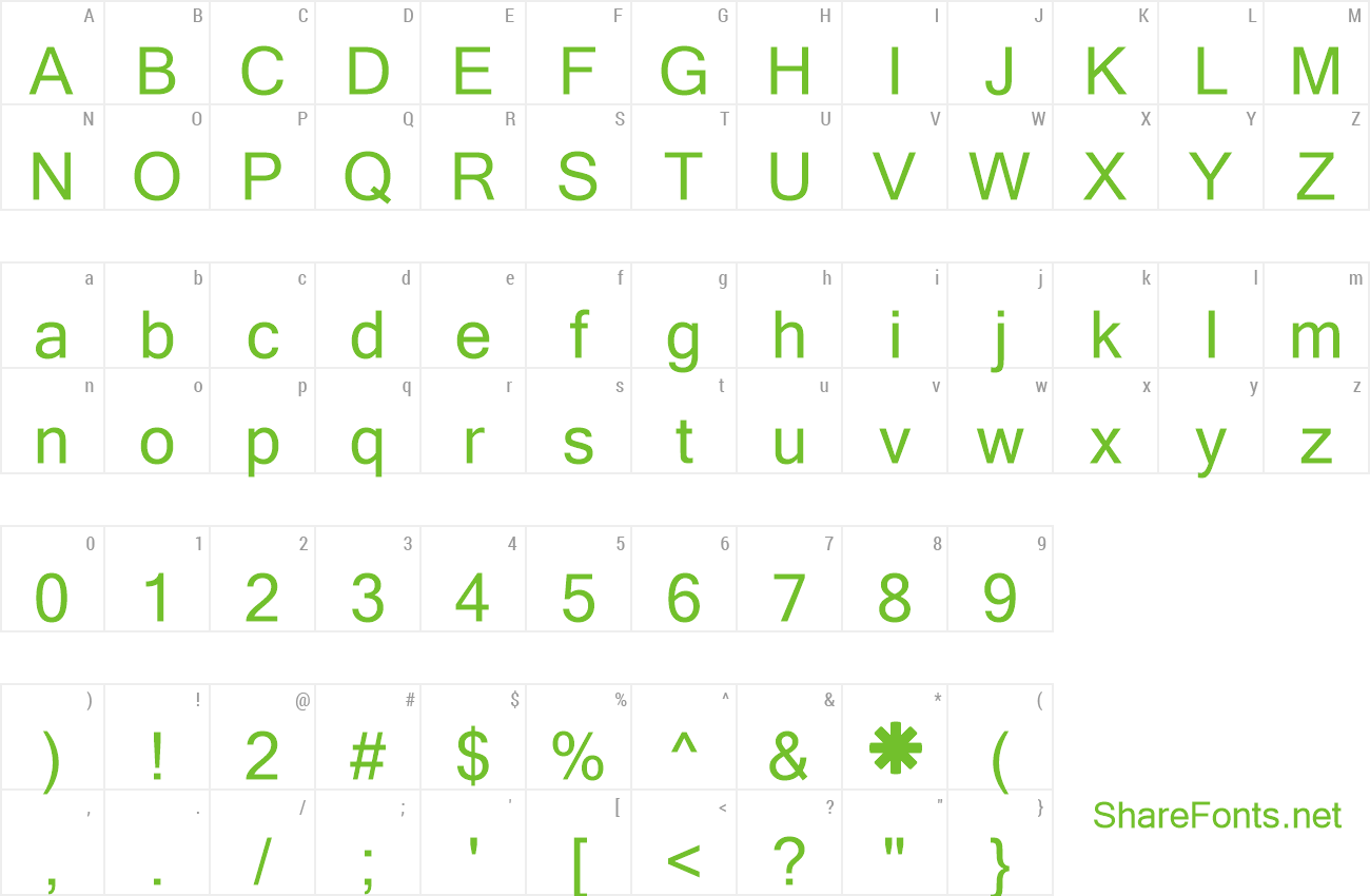 Download Free Font GLYPHICONS Halflings
