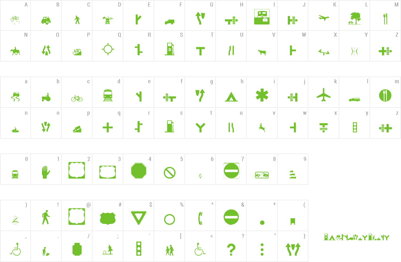Font Roadgeek 2005 Icons preview