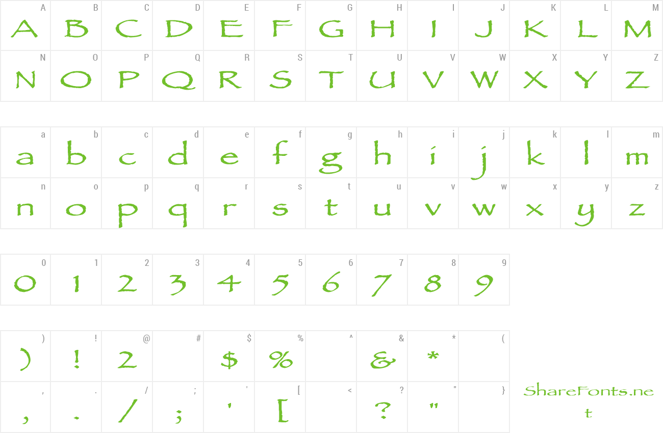Font AncientScriptExtended preview