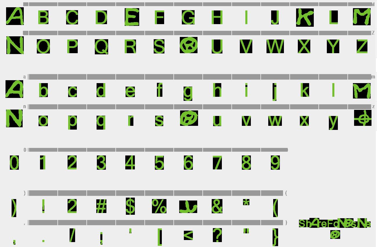 Download Free Font Zodiac Killer