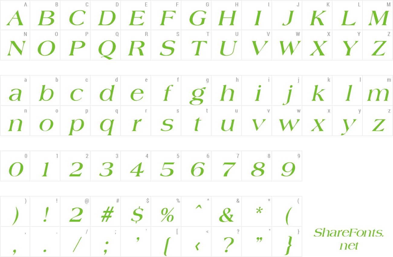 Font Jade preview