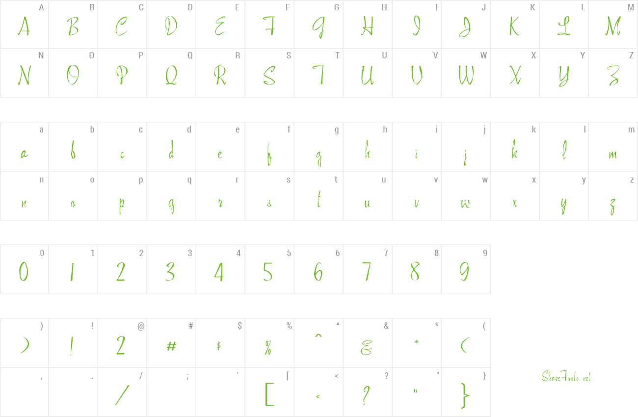 Font FZ HAND 13 EX preview