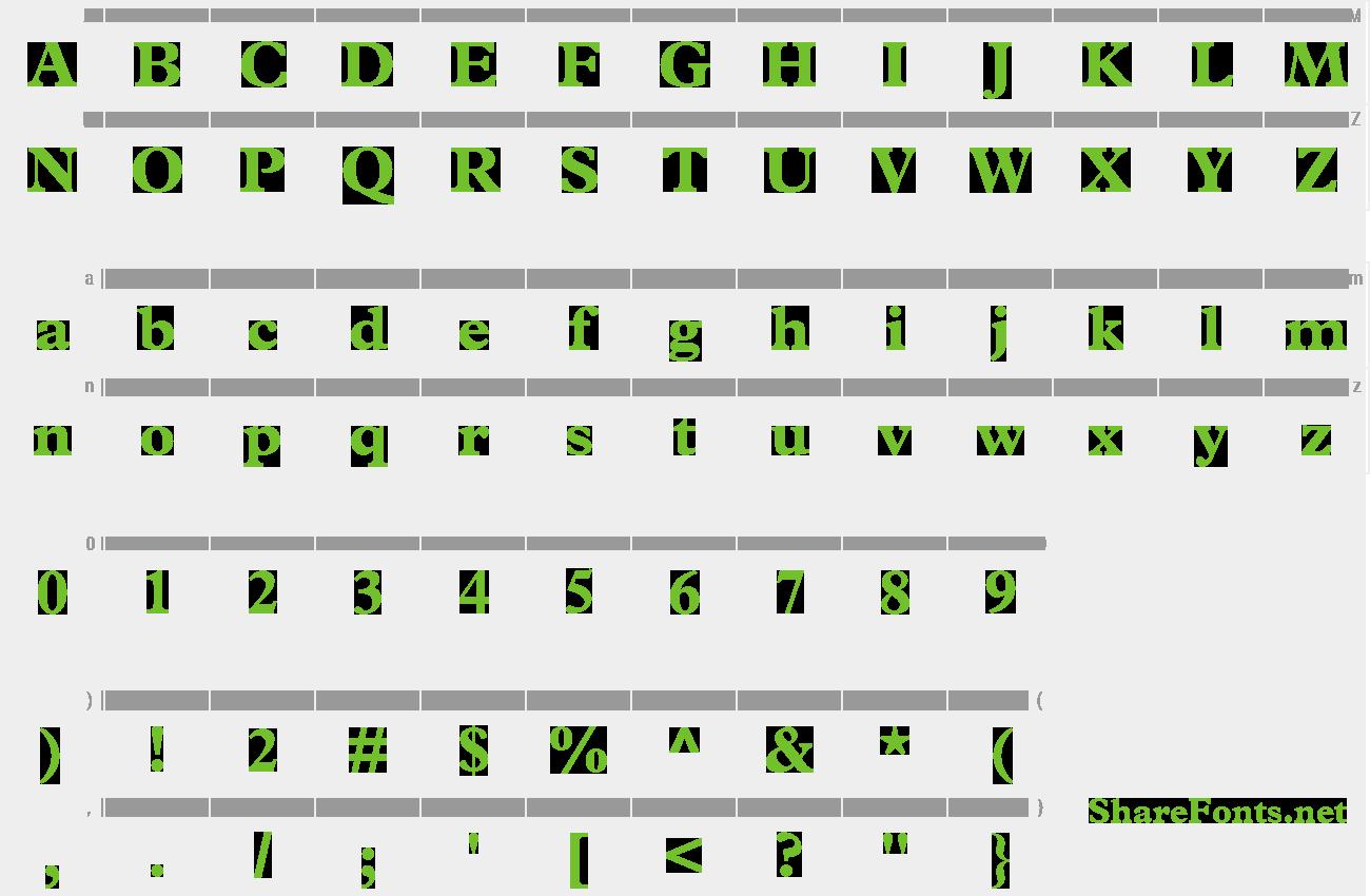 Download Free Font Terminus Black SSi