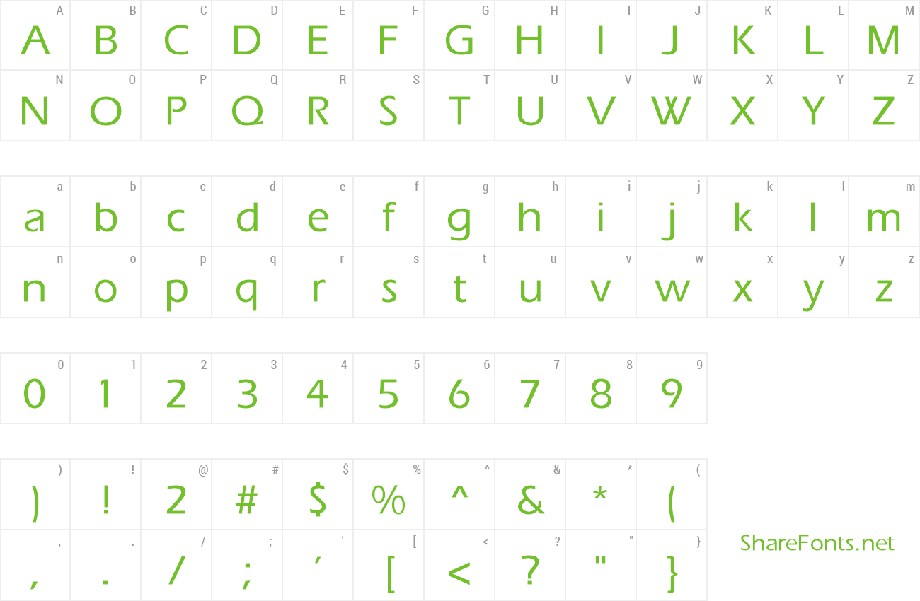 Font ErgoeMedium preview