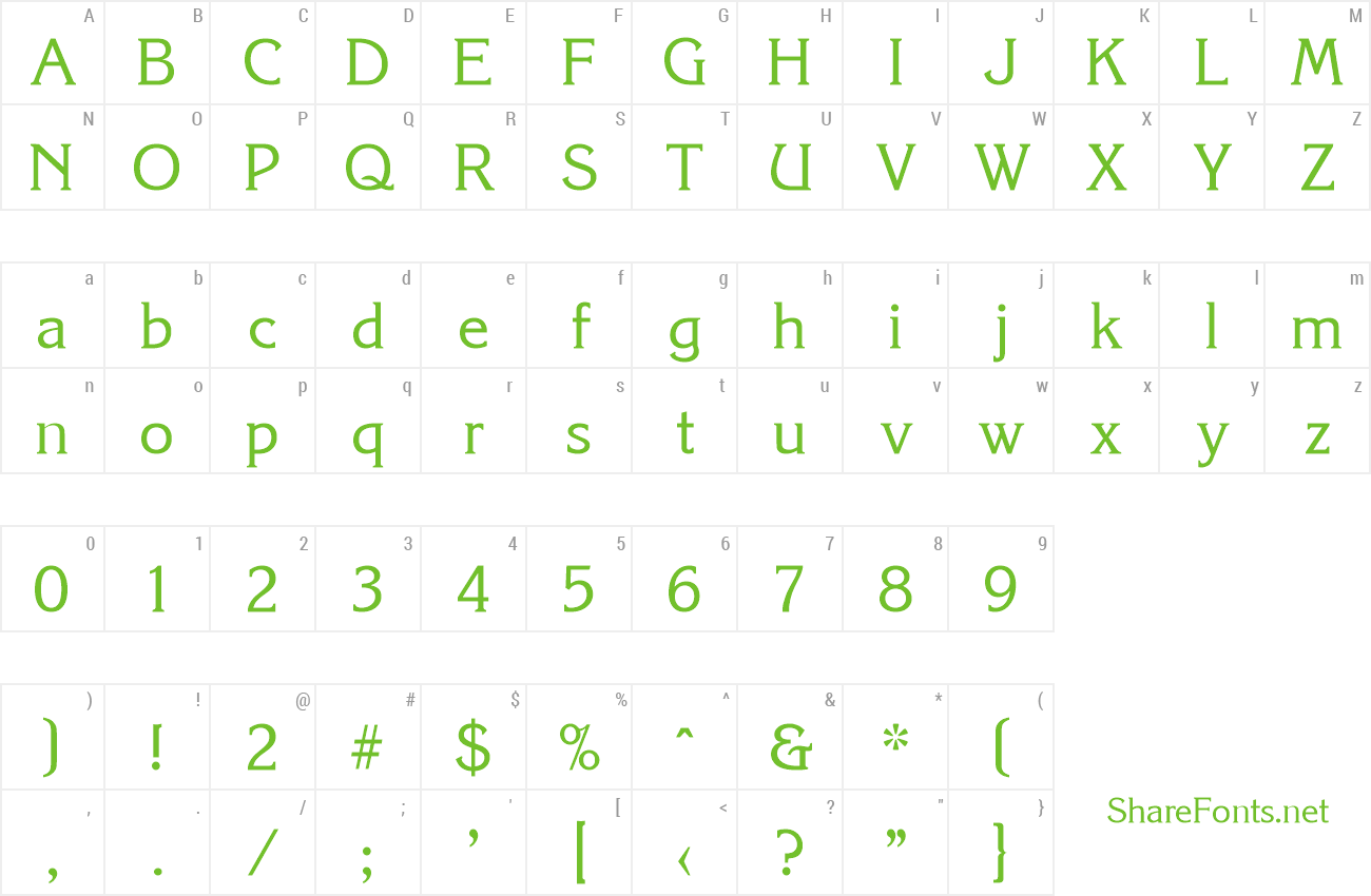 Font Korinth-Serial DB preview