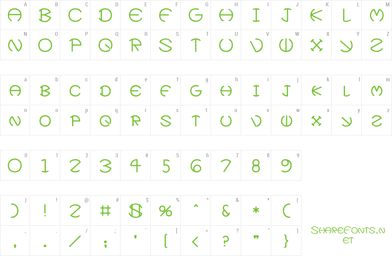 Font Xevius preview