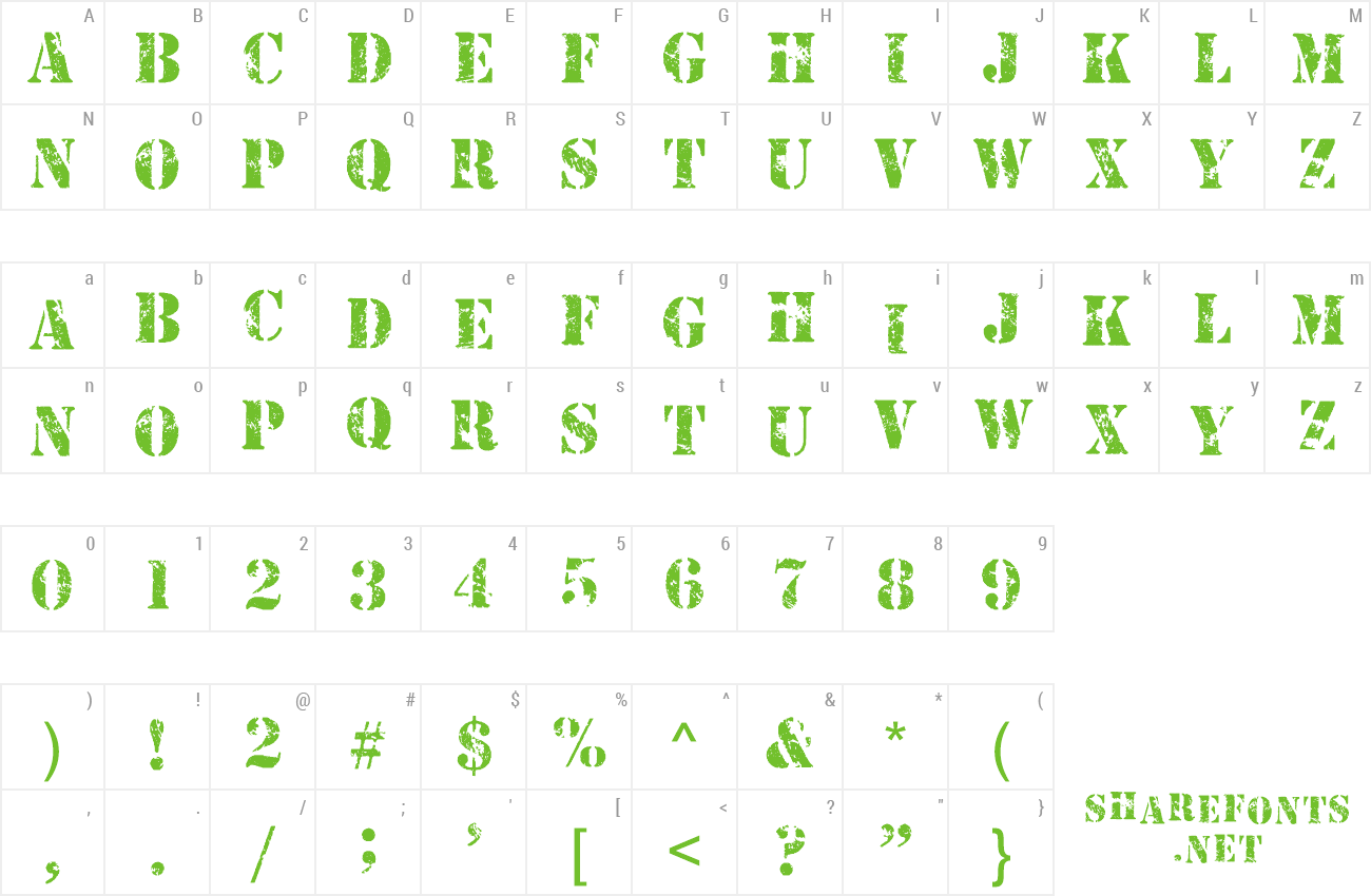 Font CBX-Armymen preview