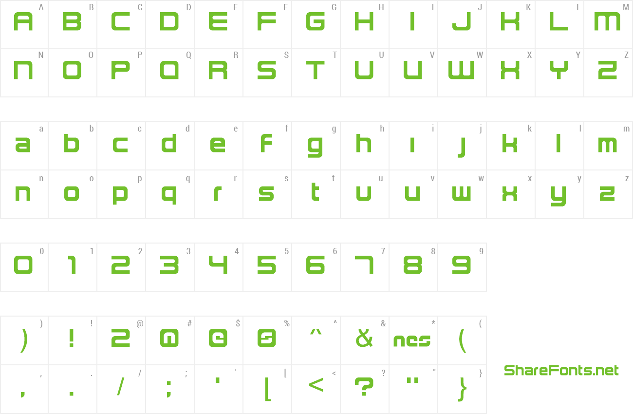 Font NES Lowercase preview
