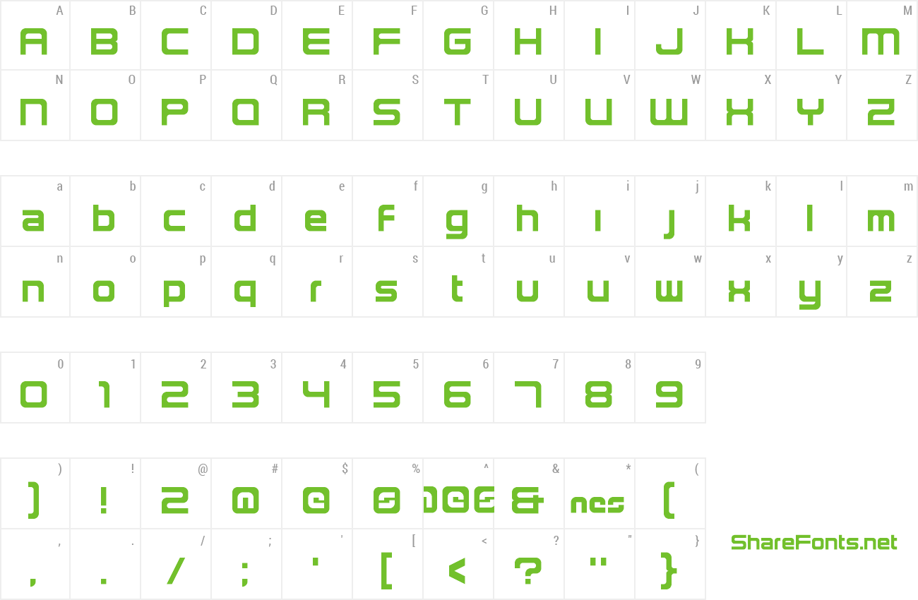 Font NES2 preview