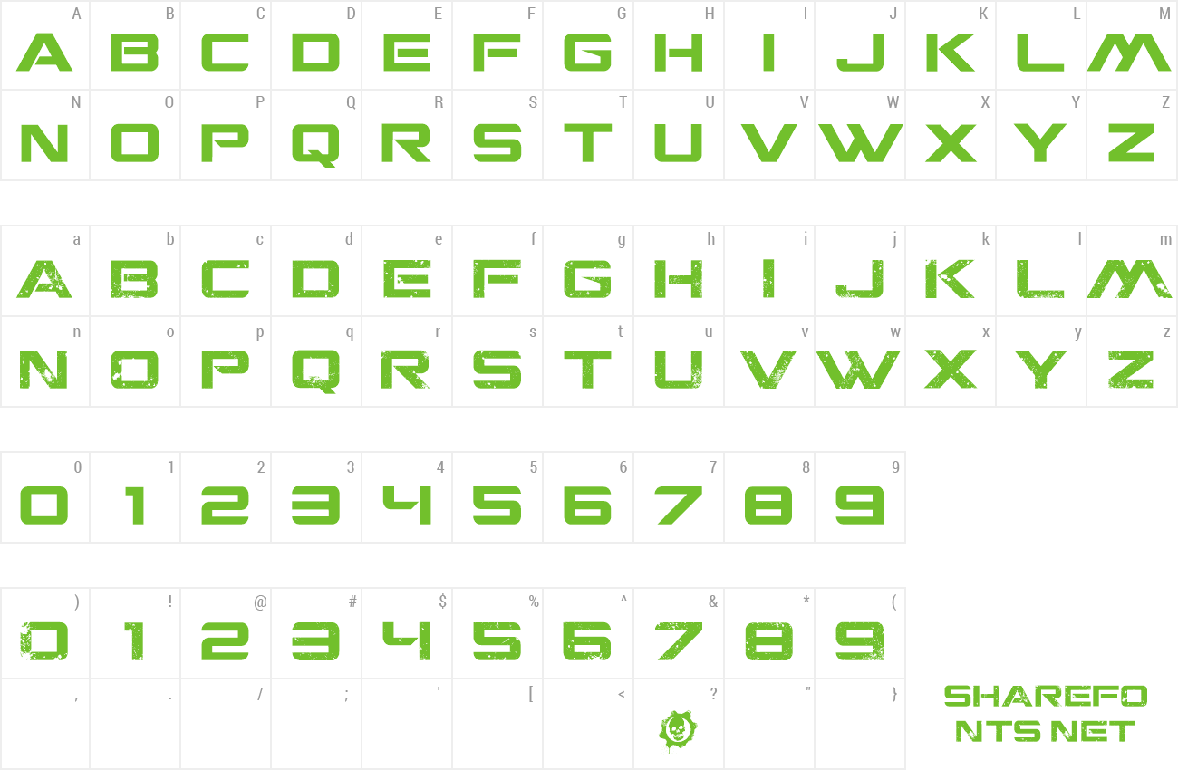 Font CGM Locust Resistance preview