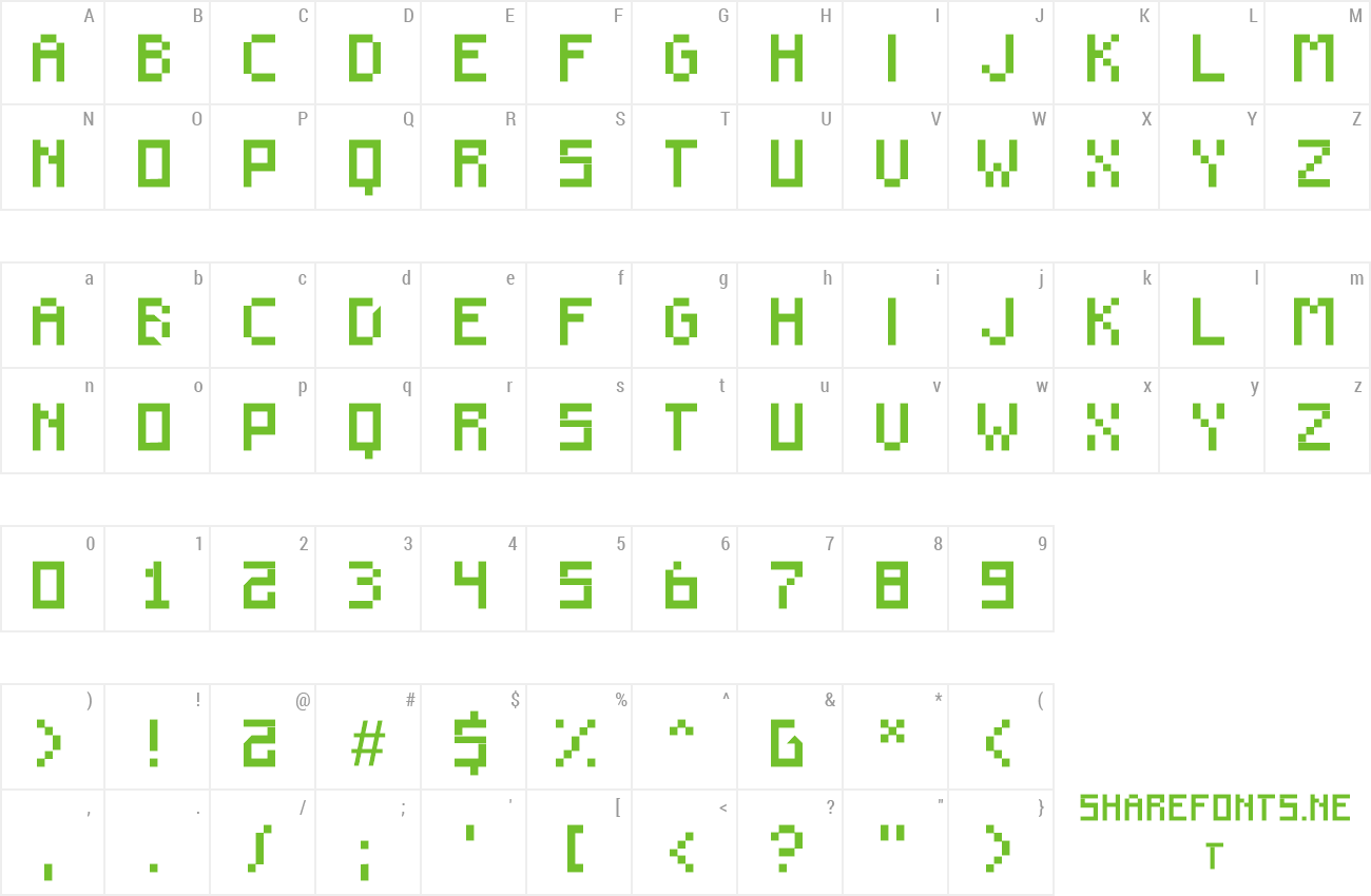 Font F910 preview