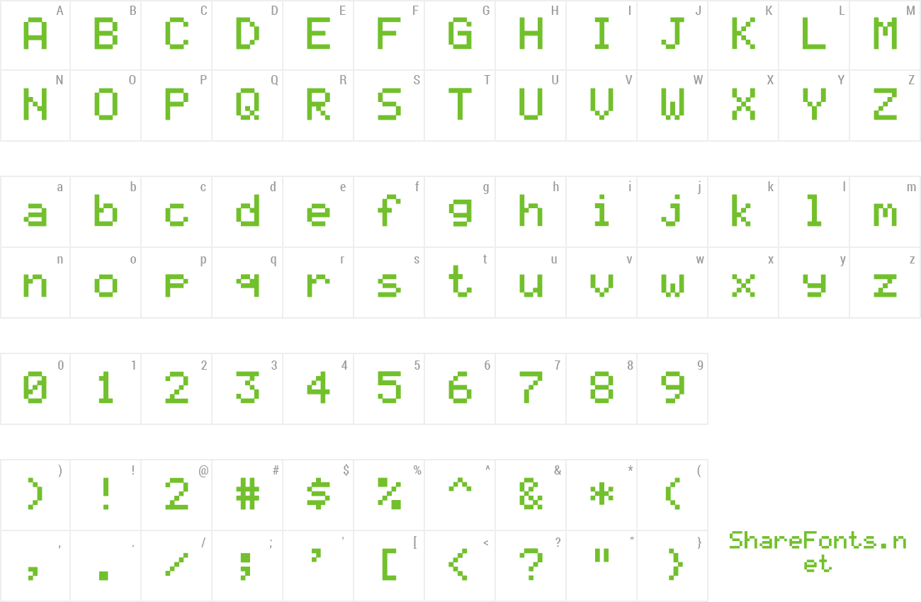 Font LCD Solid preview