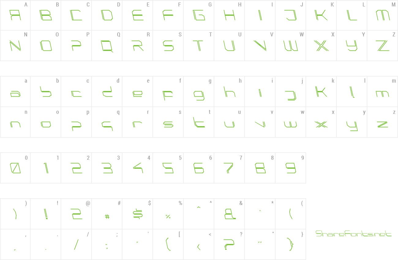 Font PhutureSqrdOpen preview