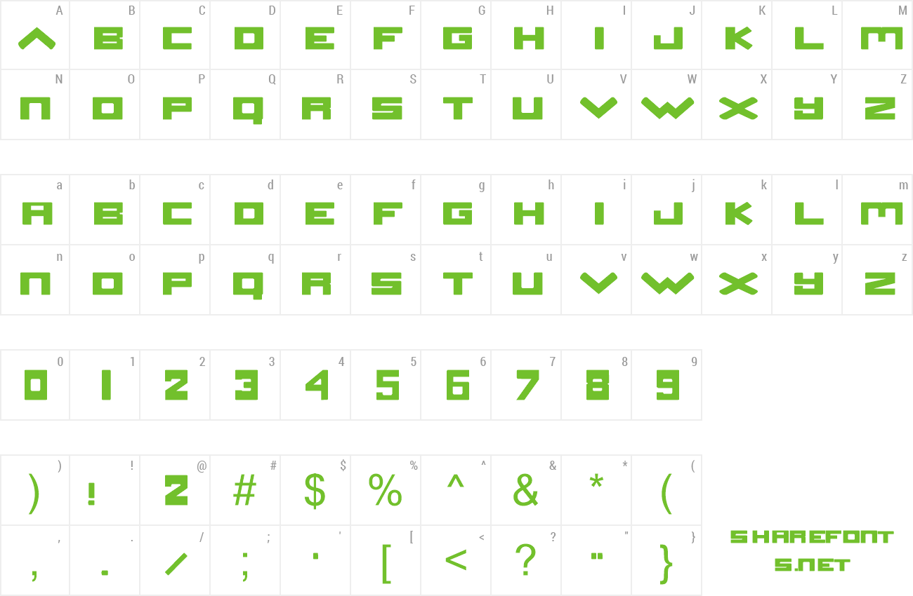 Font Stereo Saturn preview