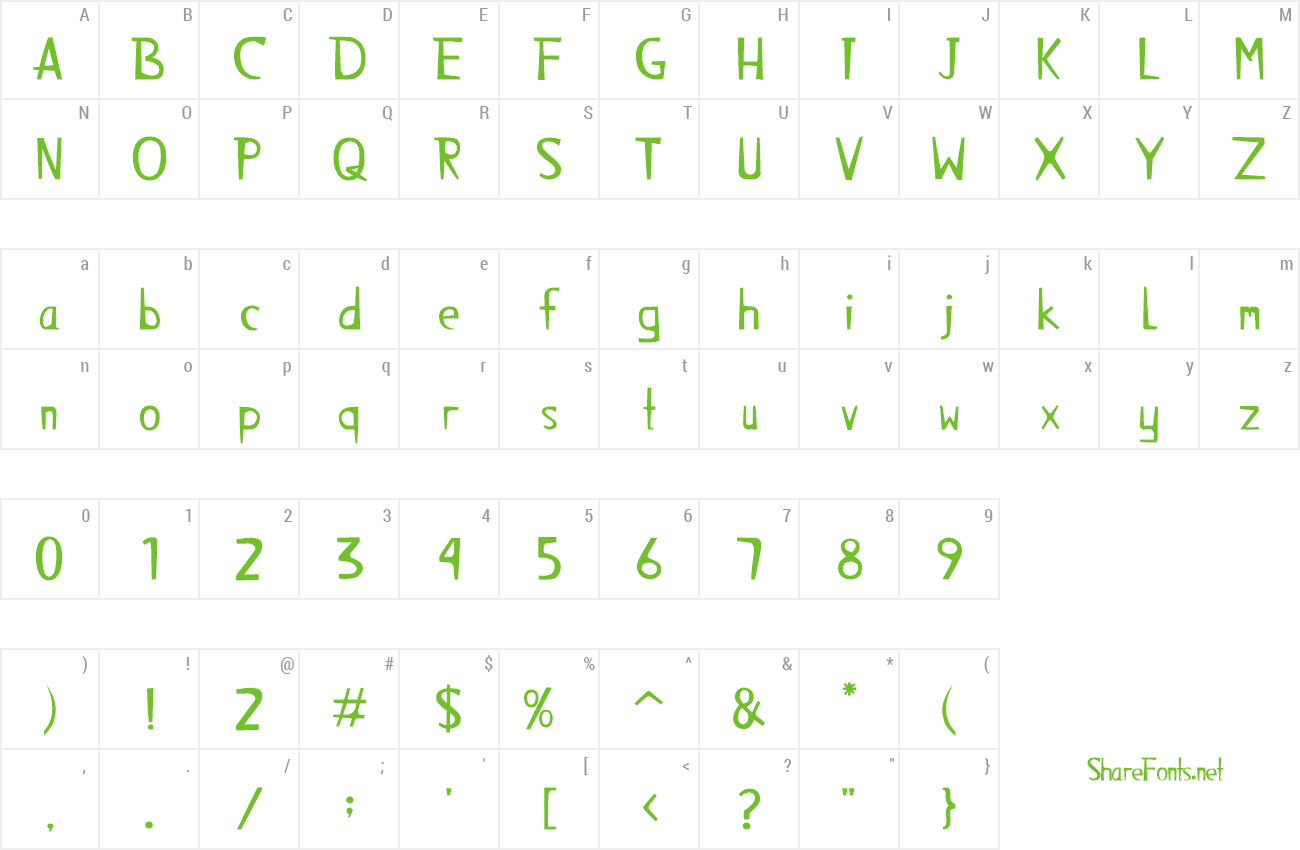 Font Alienz Monkey preview