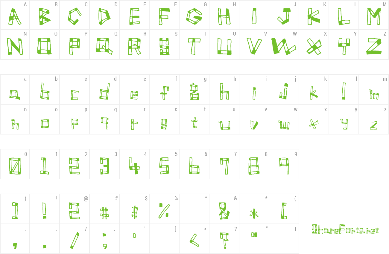 Font Font TUMIKI preview