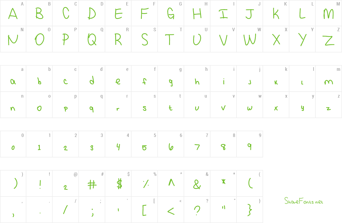 Font KBSquirrelTracks preview