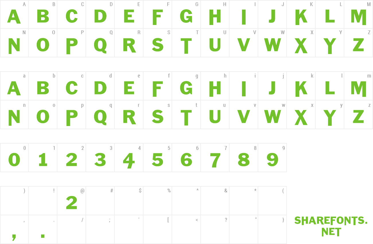 Font Killerhorse preview