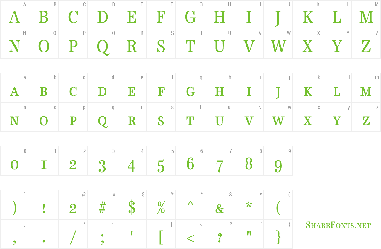 Font Becker Antiqua Caps Cond preview
