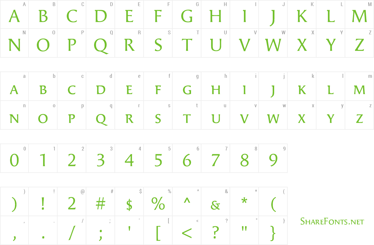 Font Angie SmallCaps preview